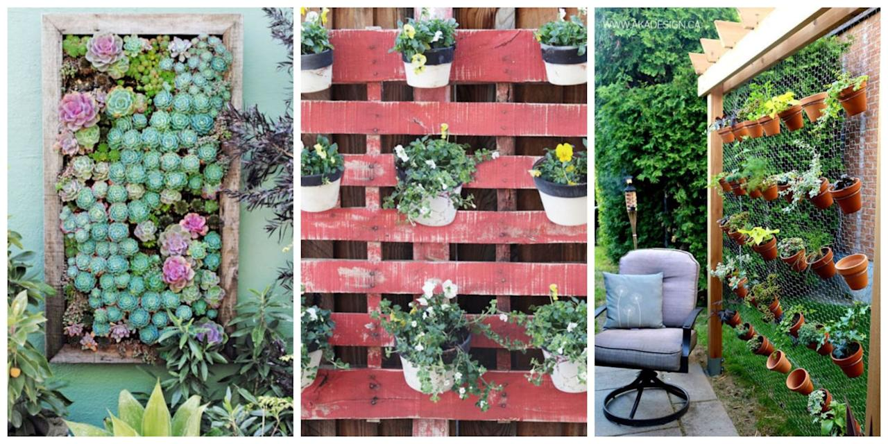 <p>As long as you've got a blank wall or a bare fence that needs beautifying, you can tend edibles, annuals, even perennials with these vertical gardening ideas — all of which inspire high hopes for the season ahead.</p>