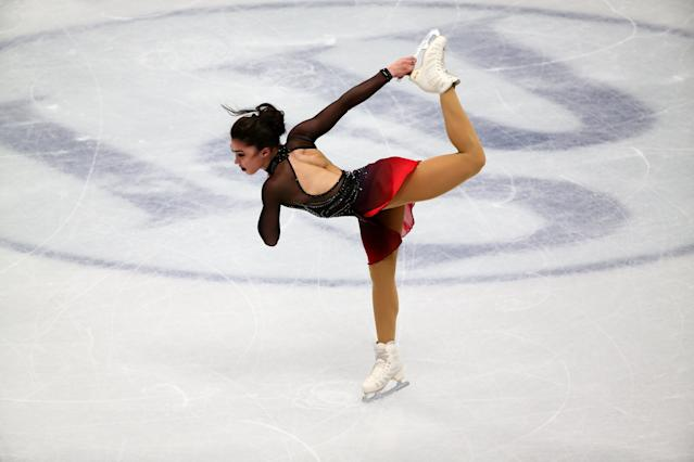 Figure Skating - World Figure Skating Championships - The Mediolanum Forum, Milan, Italy - March 21, 2018 Canada's Gabrielle Daleman during the Ladies Short Programme REUTERS/Alessandro Bianchi