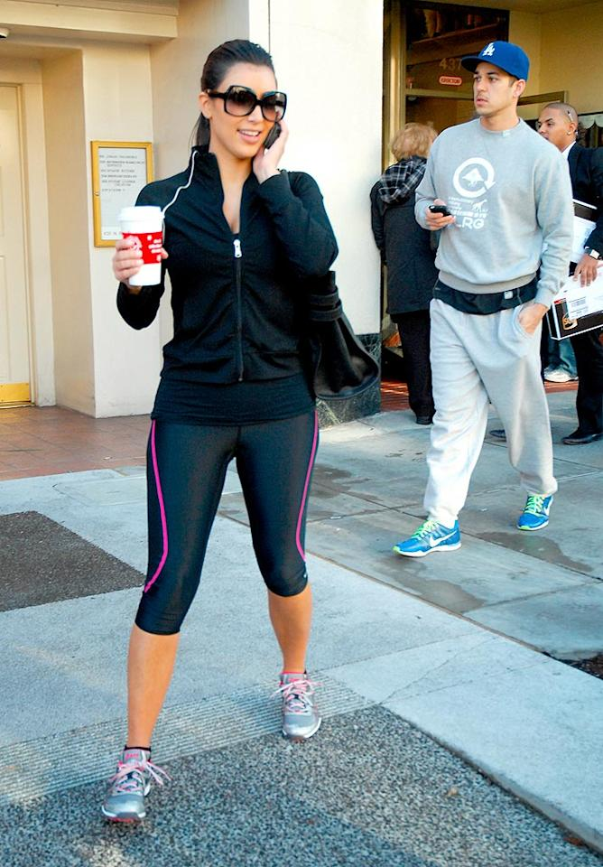 "Kim Kardashian and her brother Rob run errands in Los Angeles. Morales/<a href=""http://www.x17online.com"" target=""new"">X17 Online</a> - February 9, 2009"