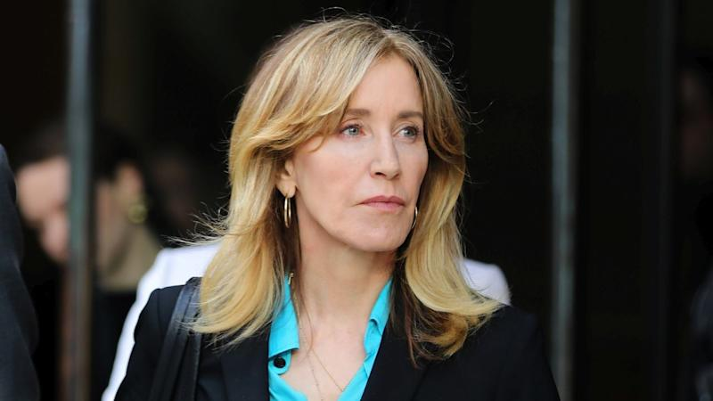 Felicity Huffman Arrives in Boston With William H. Macy Ahead of Her Sentencing (Exclusive)