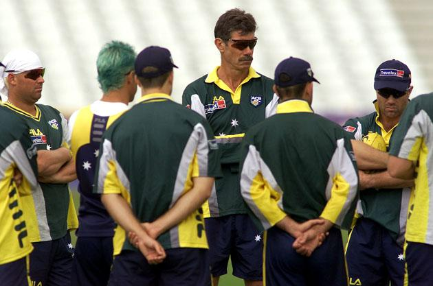 John Buchanan coach of Australia looks on, during training at Trent Bridge, Nottingham, England.  DIGITAL IMAGE Mandatory Credit: Hamish Blair/ALLSPORT