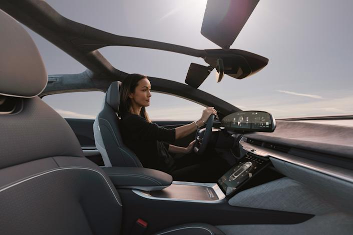 """<div class=""""caption""""> Interior of the Lucid Air-2. </div> <cite class=""""credit"""">Photo: Courtesy of Lucid</cite>"""