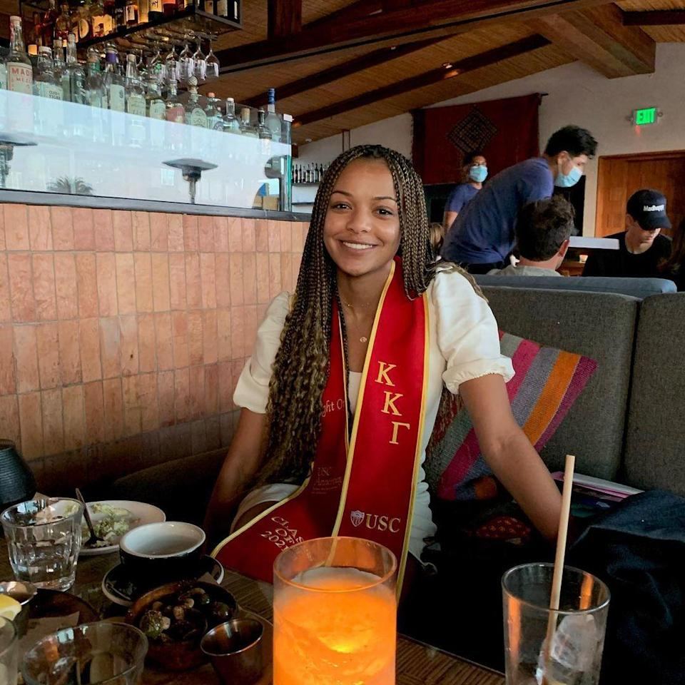 """<p>The actor celebrated his daughter Brielle's college graduation from the University of Southern California with a <a href=""""https://www.instagram.com/p/CPEtP6CAFBC/"""" rel=""""nofollow noopener"""" target=""""_blank"""" data-ylk=""""slk:loving tribute"""" class=""""link rapid-noclick-resp"""">loving tribute</a> on May 19. The grad was all smiles in her red commencement stole embroidered with her Kappa Kappa Gamma sorority letters, in a photo taken inside a restaurant.</p> <p>""""Could not be more proud of my 'one & only daughter,' Brielle for graduating from USC yesterday! Such a long march but worth every step! Wouldn't have missed it for the world!"""" <a href=""""https://people.com/tag/blair-underwood/"""" rel=""""nofollow noopener"""" target=""""_blank"""" data-ylk=""""slk:Underwood"""" class=""""link rapid-noclick-resp"""">Underwood</a> wrote on Instagram, adding the hashtags #GirlDad, #prouddad, #TheFutureIsNow and #FightOn.</p>"""