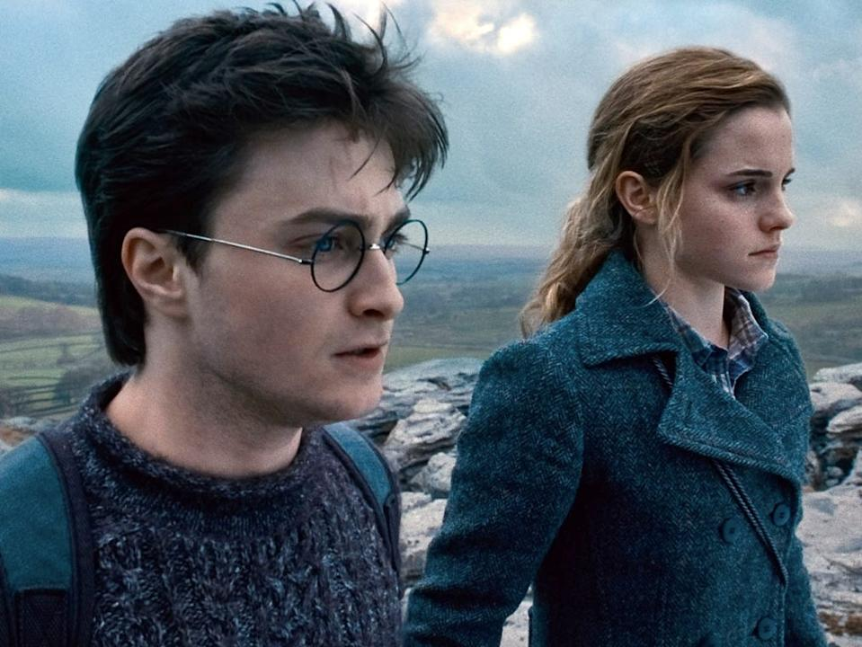 """Daniel Radcliffe and Emma Watson in """"Harry Potter and the Deathly Hallows Part 1."""" <p class=""""copyright"""">Warner Bros.</p>"""