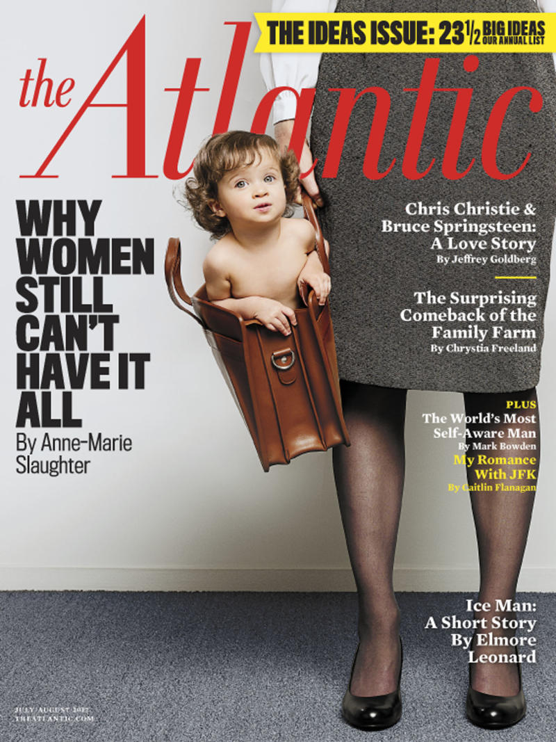 """This magazine cover image released by The Atlantic magazine shows cover from the July/August 2012 issue featuring an article by former State Department official  Anne-Marie Slaughter. The piece by Anne-Marie Slaughter describes her struggles balancing a high-powered career with raising her two sons. Online clicks were """"approaching 450,000 uniques,"""" magazine spokeswoman Natalie Raabe said Friday, citing data from Omniture. The piece also had more than 75,000 Facebook recommendations, not counting the links posted on individual facebook pages, where friends engaged in debate about work-life balance. (AP Photo/The Atlantic)"""