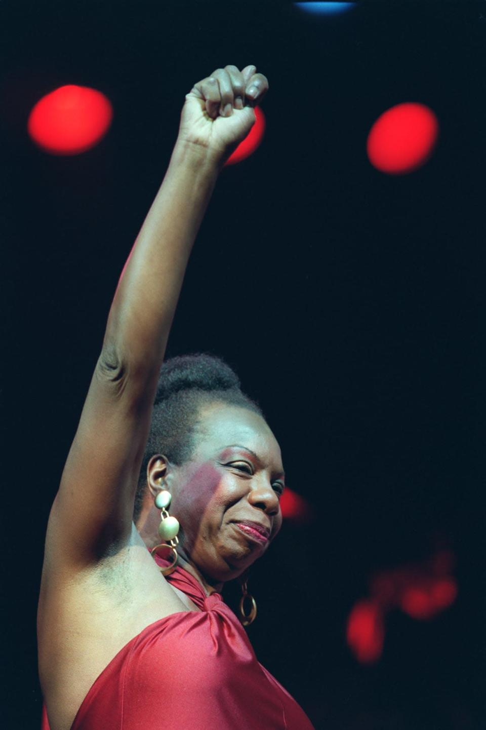"""<div class=""""inline-image__caption""""><p>Nina Simone in concert at the Olympia music hall in Paris on Oct. 22, 1991. </p></div> <div class=""""inline-image__credit"""">Bertrand Guay/AFP/Getty</div>"""