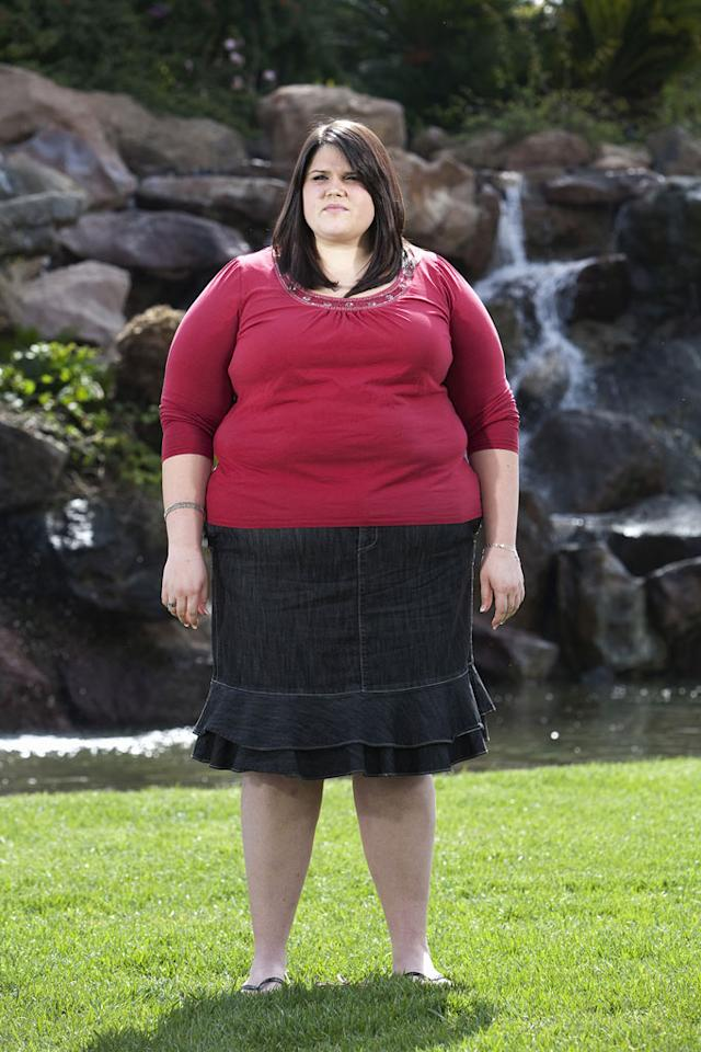 "Rachel, 21, at nearly 400 pounds as seen on ""Extreme Makeover: Weight Loss Edition."""