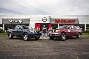 "Brian Murphy swapped his ""Million-Mile"" Frontier for a new 2020 Frontier at M'Lady Nissan in Crystal Lake, the same dealership where he bought his 2007 Frontier more than 13 years ago. The Million Mile Frontier will retire where it was assembled, the Nissan Smyrna Vehicle Assembly Plant in Smyrna, Tennessee."