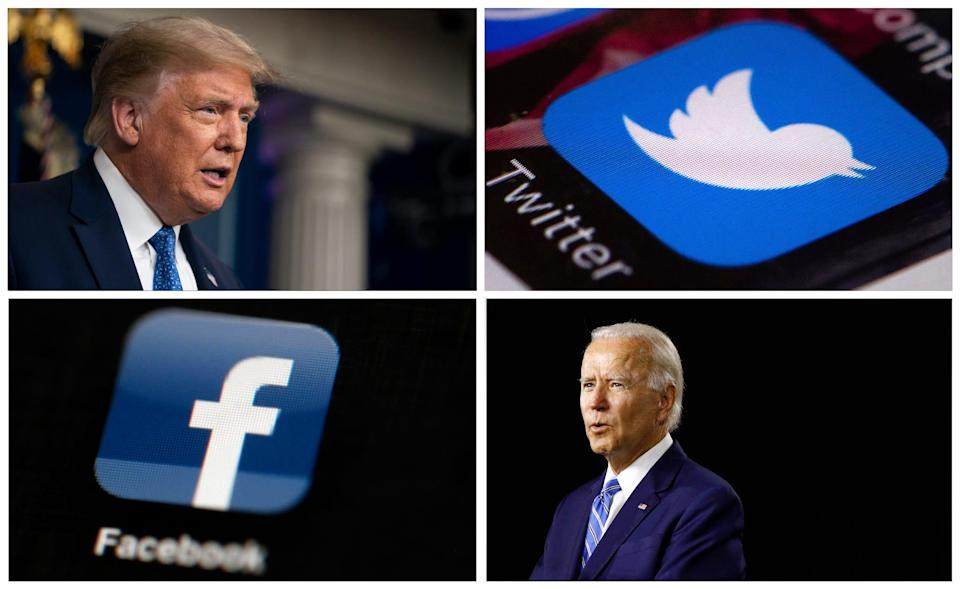 Before Election Day, President Donald Trump and his Democratic rival Joe Biden attack one another in online ads.
