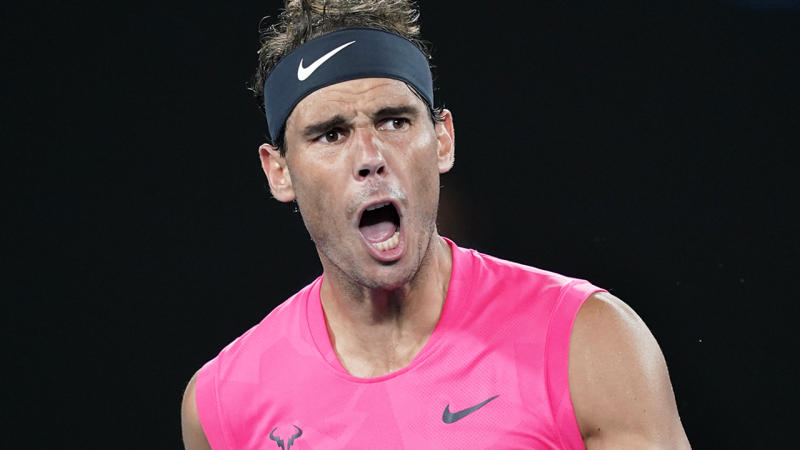 Rafael Nadal, pictured here in action at the Australian Open in 2020.