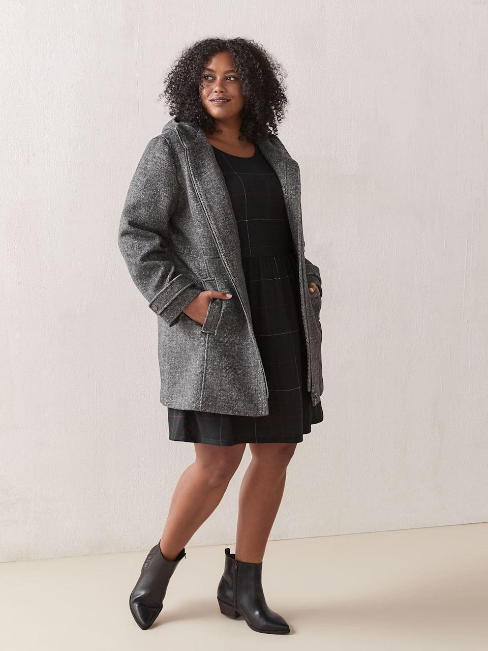 "<br><br><strong>In Every Story</strong> Zip Front Wool Coat, $, available at <a href=""https://go.skimresources.com/?id=30283X879131&url=https%3A%2F%2Fwww.penningtons.com%2Fen%2Fzip-front-wool-coat---in-every-story%2F439008.html"" rel=""nofollow noopener"" target=""_blank"" data-ylk=""slk:Penningtons"" class=""link rapid-noclick-resp"">Penningtons</a>"