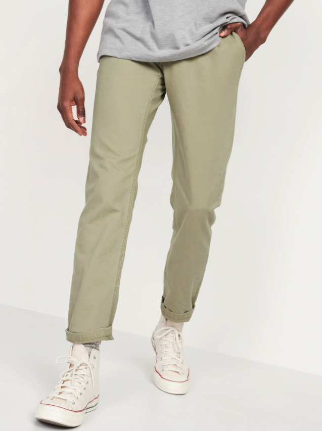 Athletic Taper Lived-In Khaki Non-Stretch Pants. Image via Old Navy.