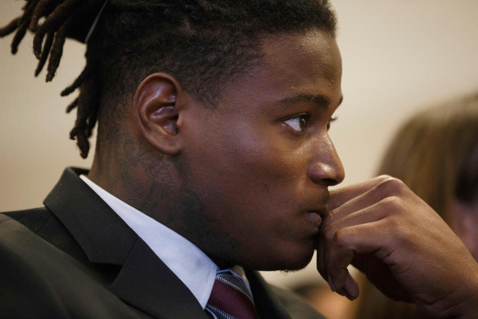 Reuben Foster will not participate in 49ers team activities until his domestic violence case is over. (Dai Sugano/Bay Area News Group)