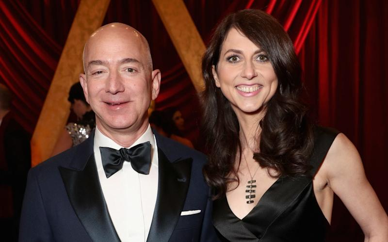Amazon chief executive Jeff Bezos and his wife MacKenzie Bezos - Getty Images North America