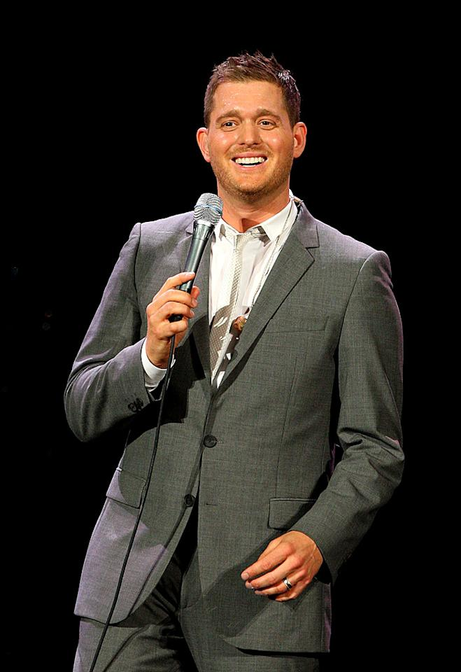 """Crooner Michael Buble turns 36. Graham Denholm/<a href=""""http://www.gettyimages.com/"""" target=""""new"""">GettyImages.com</a> - February 22, 2011"""