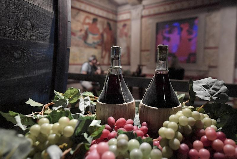 The wine museum in Bolgheri, Italy: a famous 2013 study on the benefits of the Mediterranean diet against heart disease had to be retracted in June because not all participants were picked at random (AFP Photo/Tiziana FABI)
