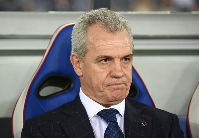 Japan's head coach Javier Aguirre, pictured during a friendly football match against Venezuela, at Nissan Stadium in Yokohama, on September 9, 2014