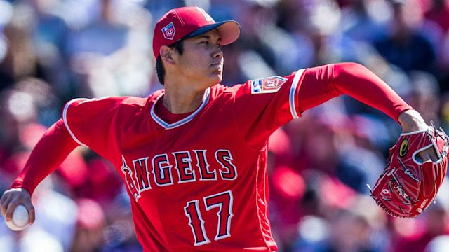 To make the Angels opening day roster, Shohei Ohtani might have to prove he's one of their best 25 players right now. (AP)
