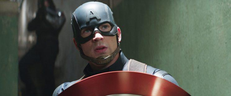 Chris Evans as Captain America in 'Captain America: Civil War'
