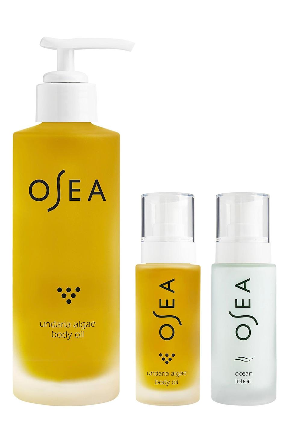 <p>Treat yourself to the <span>Osea Body Care Set</span> ($48) for supple and soft skin from head-to-toe.</p>