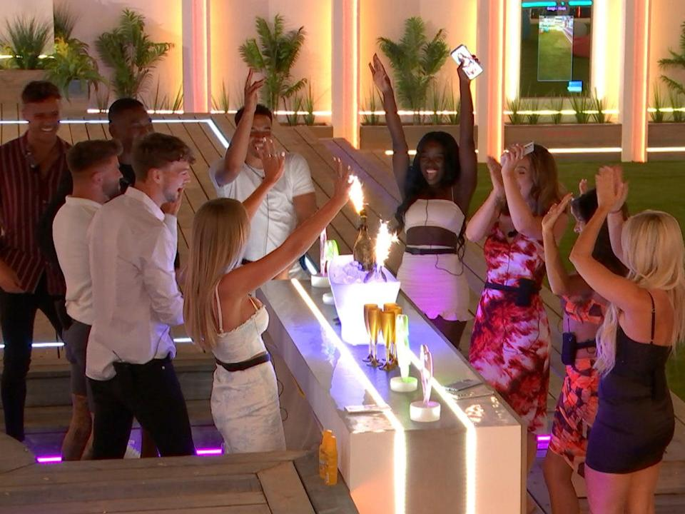 Getting in the party mood: the cast of 'Love Island' 2021 (ITV)