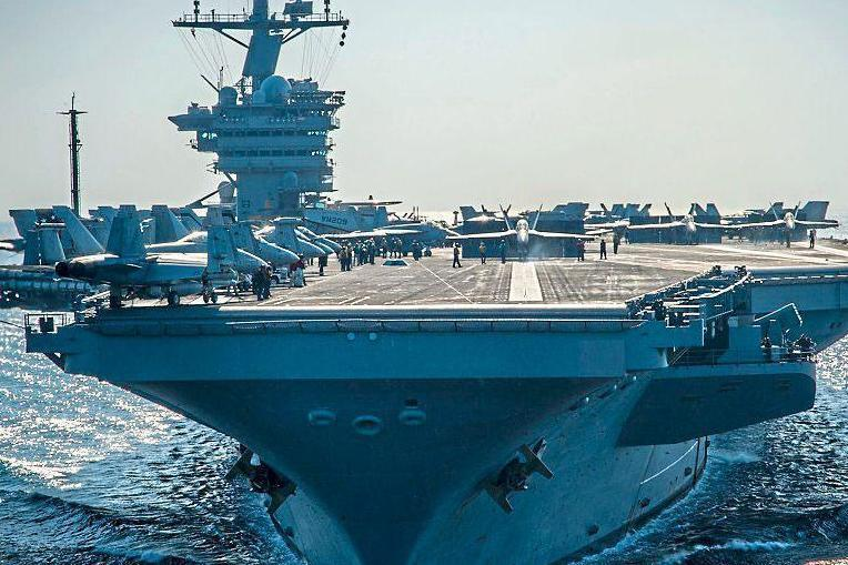 Show of strength: the USS Carl Vinson was sent to monitor waters off the Korean peninsula