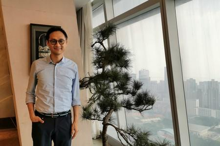 Dowson Tong, head of Tencent's Cloud and Smart Industries Group, poses at Tencent headquarters in Shenzhen