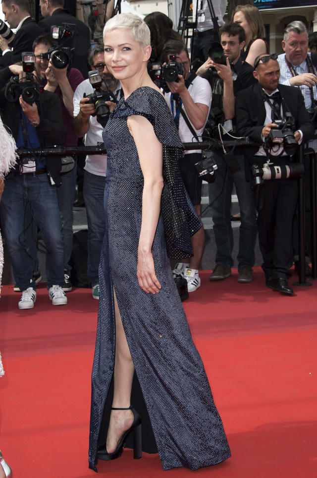 """<p><a href=""""https://www.yahoo.com/movies/tagged/michelle-williams"""" data-ylk=""""slk:Michelle Williams"""" class=""""link rapid-noclick-resp"""">Michelle Williams</a> at the <a href=""""https://www.yahoo.com/movies/tagged/cannes-film-festival"""" data-ylk=""""slk:Cannes Film Festival"""" class=""""link rapid-noclick-resp"""">Cannes Film Festival </a>screening of <a href=""""https://www.yahoo.com/movies/film/wonderstruck"""" data-ylk=""""slk:Wonderstruck"""" class=""""link rapid-noclick-resp""""><em>Wonderstruck</em></a> on May 18, 2017 (Photo: Arthur Mola/Invision/AP) </p>"""