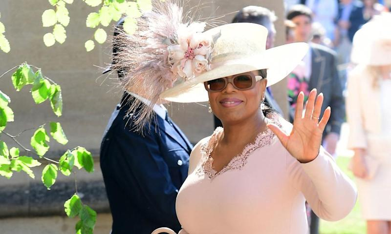 Oprah Winfrey arrives for the wedding ceremony.