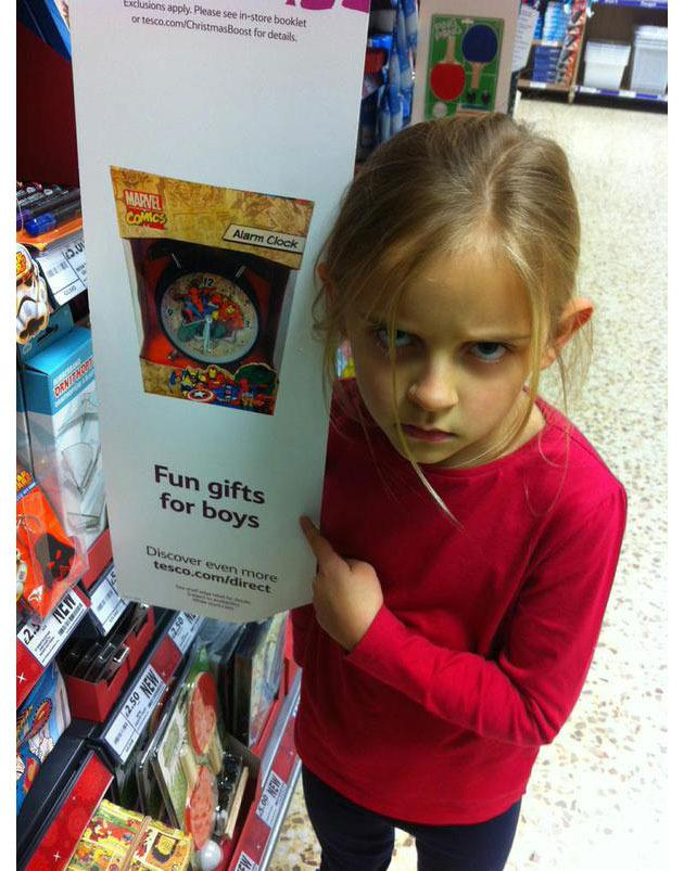 Seven year old slams Tesco over sexist toy