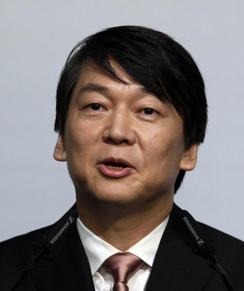 In this photo taken Sept. 19, 2012, Ahn Cheol-soo, the founder of South Korea's largest antivirus maker AhnLab, delivers a speech to the nation during a press conference in Seoul, South Korea. As a bookish academic who made his fortune in software before turning to philanthropy, Ahn, 50, has been called South Korea's Bill Gates. Now that he's running for office with a Barack Obama-like message of change that appeals to the nation's young and hopeful, Ahn is looking for a new title: Mr. President. (AP Photo/Lee Jin-man)