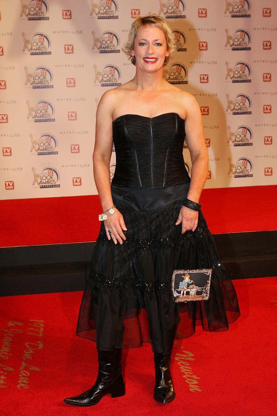 The Living Room host Amanda Keller may walk away a winner at this year's awards - she's up for a Gold Logie - but back in 2006 she was a big fashion fail. The corset, tulle shirt and flat-heeled, knee-high boots all say 'last-minute Halloween costume' not awards show red carpet. Photo: Getty Images.