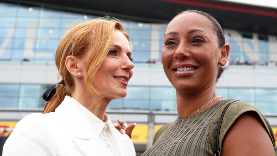 Geri Horner praised 'brave' Mel B for appearing in a short film about domestic violence. (Charles Coates/Getty Images)