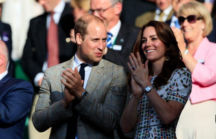 Kate wears two rings while William wears none [Photo: PA]