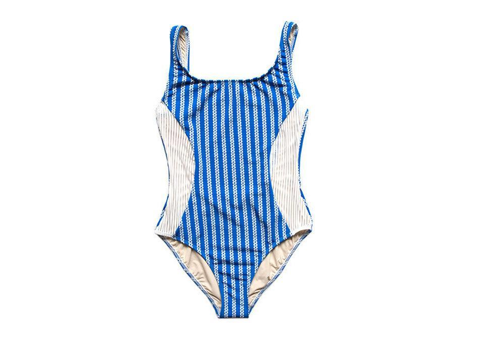 """<p>Giejo Scoop Neck Onepiece in Blue Chain, $185, <a href=""""http://shopgiejo.com/collections/collection-009/products/scoop-neck-blue-chain"""" rel=""""nofollow noopener"""" target=""""_blank"""" data-ylk=""""slk:shopgiejo.com"""" class=""""link rapid-noclick-resp"""">shopgiejo.com</a><br><br></p>"""