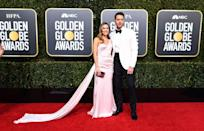 <p>Justin Hartley and his wife, Chrishell Stause, attend the 76th Annual Golden Globe Awards at the Beverly Hilton Hotel in Beverly Hills, Calif., on Jan. 6, 2019. (Photo: Getty Images) </p>