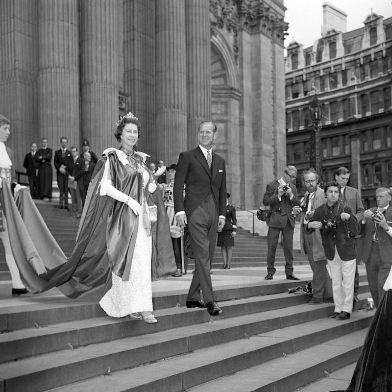 Queen Elizabeth II and the Duke of Edinburgh leaving St Paul's Cathedral in 1968 - Credit: PA