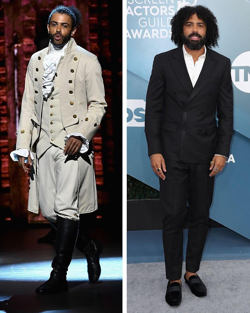 """<p>After winning both Grammy and Tony Awards for originating his two <em>Hamilton </em>roles, Diggs's career has taken off. The actor played a recurring role in the series <em>Black-ish</em> and co-starred in the 2017 movie, <em>Wonder,</em> and 2019's <em>Velvet Buzzsaw.</em> Diggs also co-wrote, co-produced, and co-starred in the 2018 critically-acclaimed Sundance film, <em>Blindspotting. </em>Right now, Diggs stars in <a href=""""https://www.townandcountrymag.com/leisure/arts-and-culture/a32476582/snowpiercer-tv-show-review-eat-the-rich/"""" rel=""""nofollow noopener"""" target=""""_blank"""" data-ylk=""""slk:the post-apocolyptic drama series, Snowpiercer,"""" class=""""link rapid-noclick-resp"""">the post-apocolyptic drama series, <em>Snowpiercer</em>, </a>based on the Bong Joon-ho film. Coming up, the actor is set to play Sebastian in the live action remake of <em>The Little Mermaid</em>, produced by Lin-Manuel Miranda. </p>"""