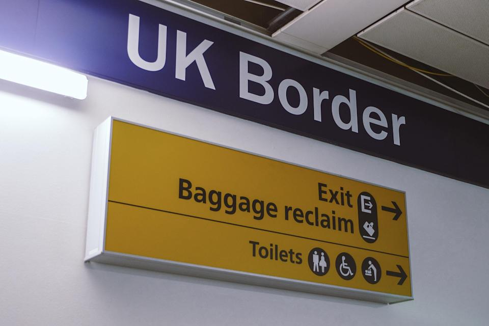 Europeans entering Britain can use a national ID card until October, after which only passports will be accepted, for stays of up to six months.