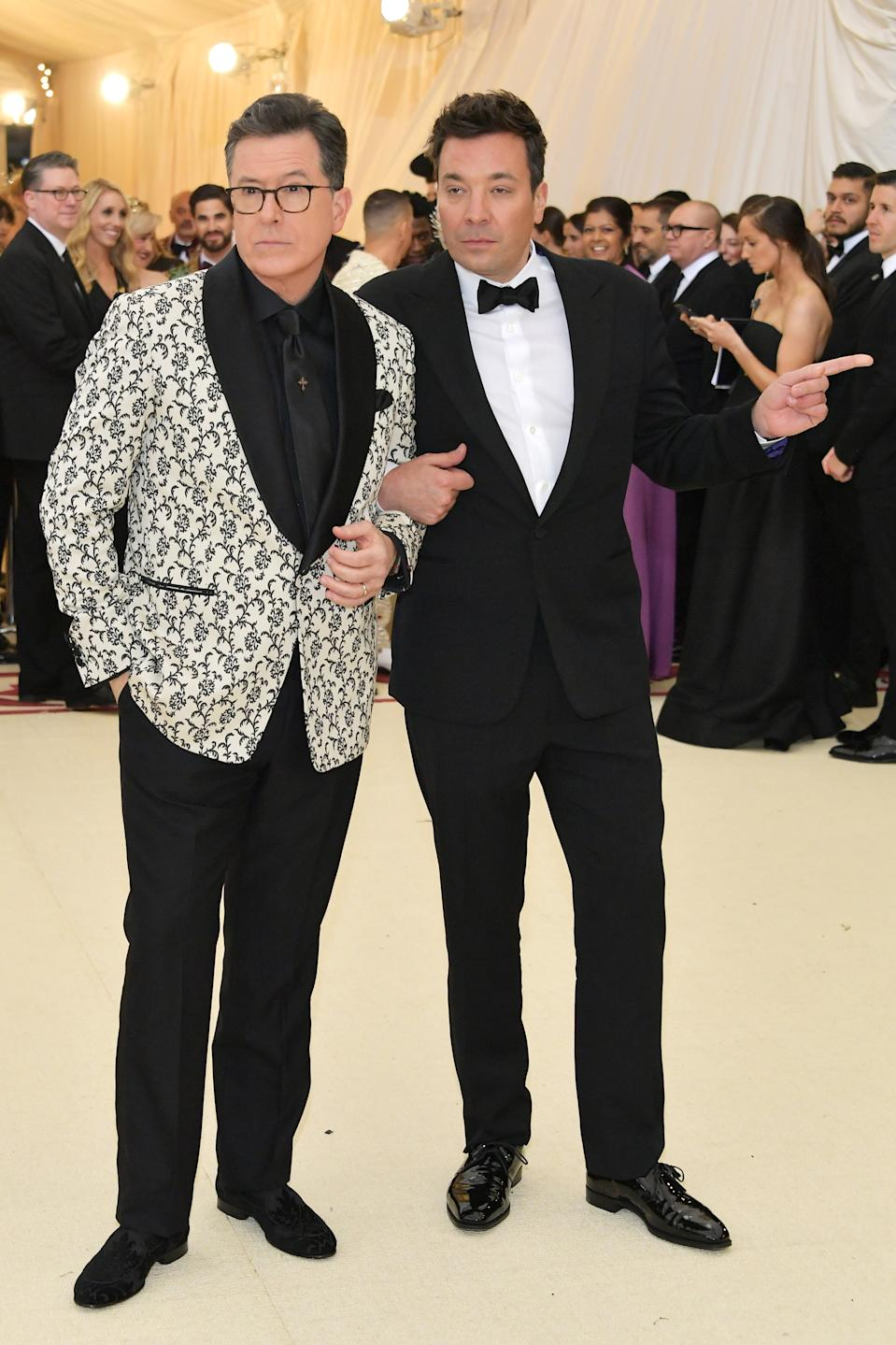 """<h1 class=""""title"""">Stephen Colbert and Jimmy Fallon in Ralph Lauren</h1><cite class=""""credit"""">Photo: Getty Images</cite>"""