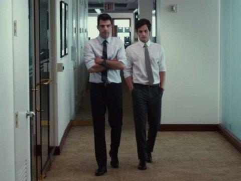 two bankers walk down a hall margin call
