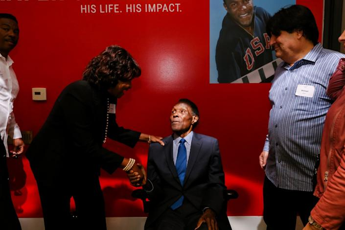 Images of the Rafer Johnson VIP reception.