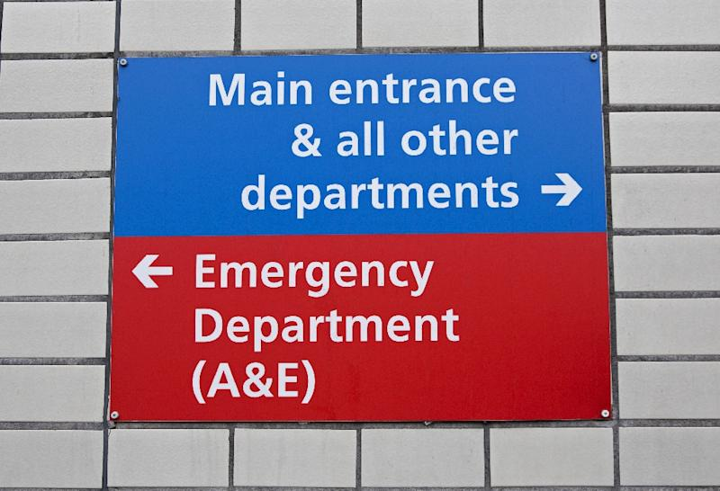 Last week, 23 percent of Britain's NHS patients waited more than four hours to see a doctor while two patients died onstretchers in a corridor (AFP Photo/Isabel INFANTES)