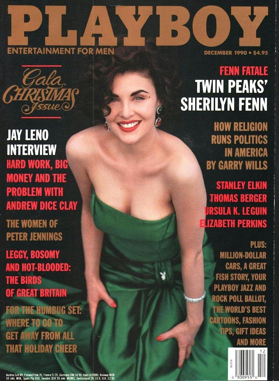 <p><strong>Issue: </strong>December 1990</p><p>Sherilyn Fenn's December 1990 cover mixed sexy and classy perfectly. </p>