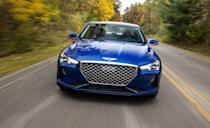 "<p>The <a href=""https://www.caranddriver.com/genesis/g70"" rel=""nofollow noopener"" target=""_blank"" data-ylk=""slk:Genesis G70"" class=""link rapid-noclick-resp"">Genesis G70</a> is here to battle the <a href=""https://www.caranddriver.com/bmw/3-series"" rel=""nofollow noopener"" target=""_blank"" data-ylk=""slk:BMW 3-series"" class=""link rapid-noclick-resp"">BMW 3-series</a>, and the new sedan's performance and cheap base price make it a deadly enemy. The Genesis comes standard in rear-wheel drive with an eight-speed automatic transmission and is offered with a six-speed manual. All-wheel drive is also offered, but only with the automatic. It' 10-year 100,000-mile powertrain warranty sweetens the deal. Worried about reliability? Check out our <a href=""https://www.caranddriver.com/reviews/a28485496/2019-genesis-g70-reliability-maintenance/"" rel=""nofollow noopener"" target=""_blank"" data-ylk=""slk:40,000-mile longterm test"" class=""link rapid-noclick-resp"">40,000-mile longterm test</a>.</p><ul><li>Engines: 252-hp turbocharged 2.0-liter inline-four; 365-hp twin-turbocharged 3.3-liter V-6 </li><li>Cargo space: 11 cubic feet </li></ul><p><a class=""link rapid-noclick-resp"" href=""https://www.caranddriver.com/genesis/g70/specs"" rel=""nofollow noopener"" target=""_blank"" data-ylk=""slk:MORE G70 SPECS"">MORE G70 SPECS</a></p>"