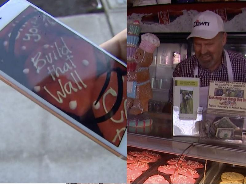A bakery owner is apologizing for a cookie. (Photos via KING-5)