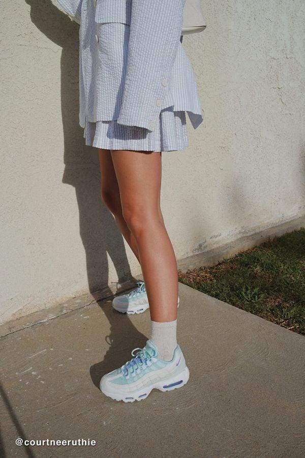 """<p>These white and blue <a href=""""https://www.popsugar.com/buy/Nike-Air-Max-95-Sneakers-478349?p_name=Nike%20Air%20Max%2095%20Sneakers&retailer=urbanoutfitters.com&pid=478349&price=160&evar1=fab%3Aus&evar9=46083308&list1=shopping%2Cfall%20fashion%2Cshoes%2Curban%20outfitters%2Cfall%2Cspring%2Cspring%20fashion&prop13=api&pdata=1"""" rel=""""nofollow"""" data-shoppable-link=""""1"""" target=""""_blank"""" class=""""ga-track"""" data-ga-category=""""Related"""" data-ga-label=""""https://www.urbanoutfitters.com/shop/nike-air-max-95-sneaker8?category=shoes-for-women&amp;color=010&amp;type=REGULAR"""" data-ga-action=""""In-Line Links"""">Nike Air Max 95 Sneakers</a> ($160) are impossibly cool.</p>"""