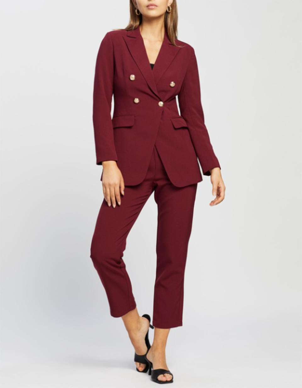 Atmos&Here Gigi Blazer $99.99 and matching trousers $79.99 from The Iconic