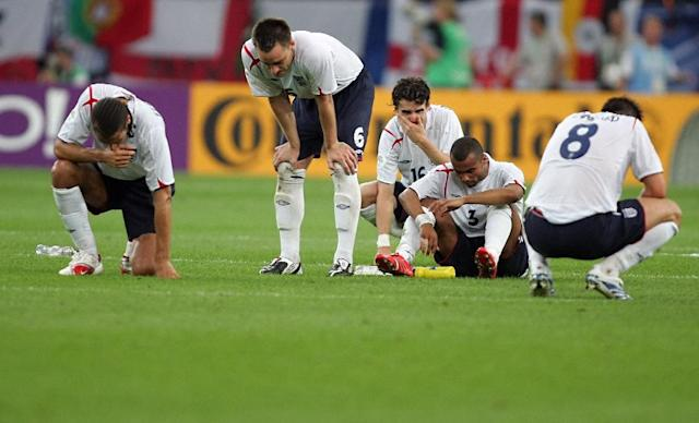 Rio Ferdinand confesses he did not open up to Chelsea players such as John Terry, Ashley Cole and Frank Lampard. But when England lost on penalties to Portugal in 2006, the four, and Owen Hargreaves, suffered side by side. (AFP Photo/ADRIAN DENNIS)