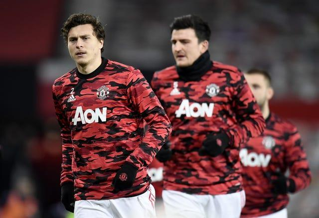 Victor Lindelof, left, and Harry Maguire, right, have been the preferred defensive duo for Man Utd